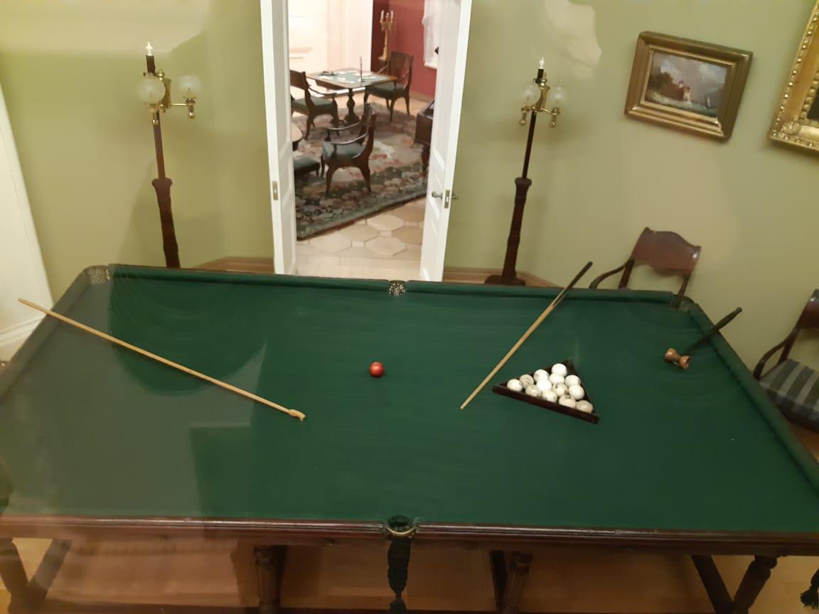 Бильярдный стол в Нащокинском потешном домике