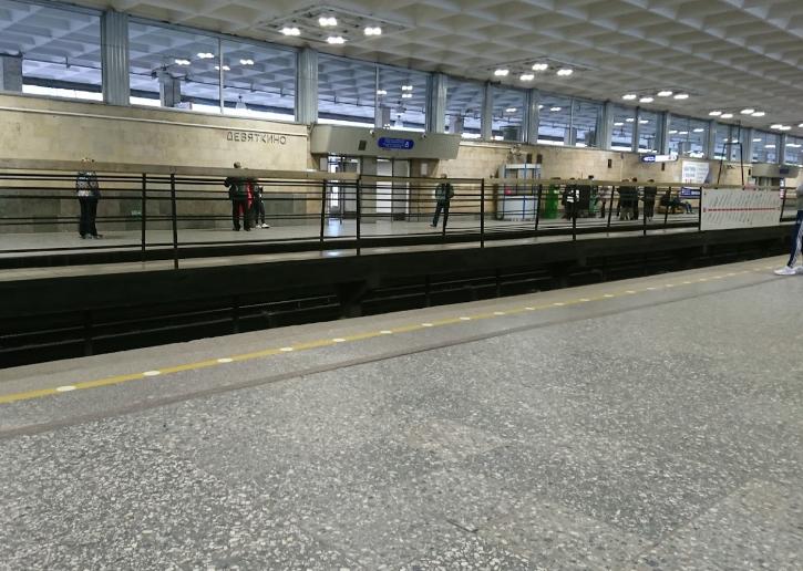 Станция метро девяткино платформа