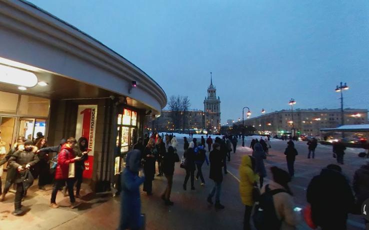 станция метро парк победы снаружи