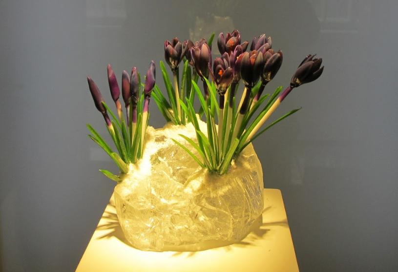 Музей художественного стекла - выставка цветов