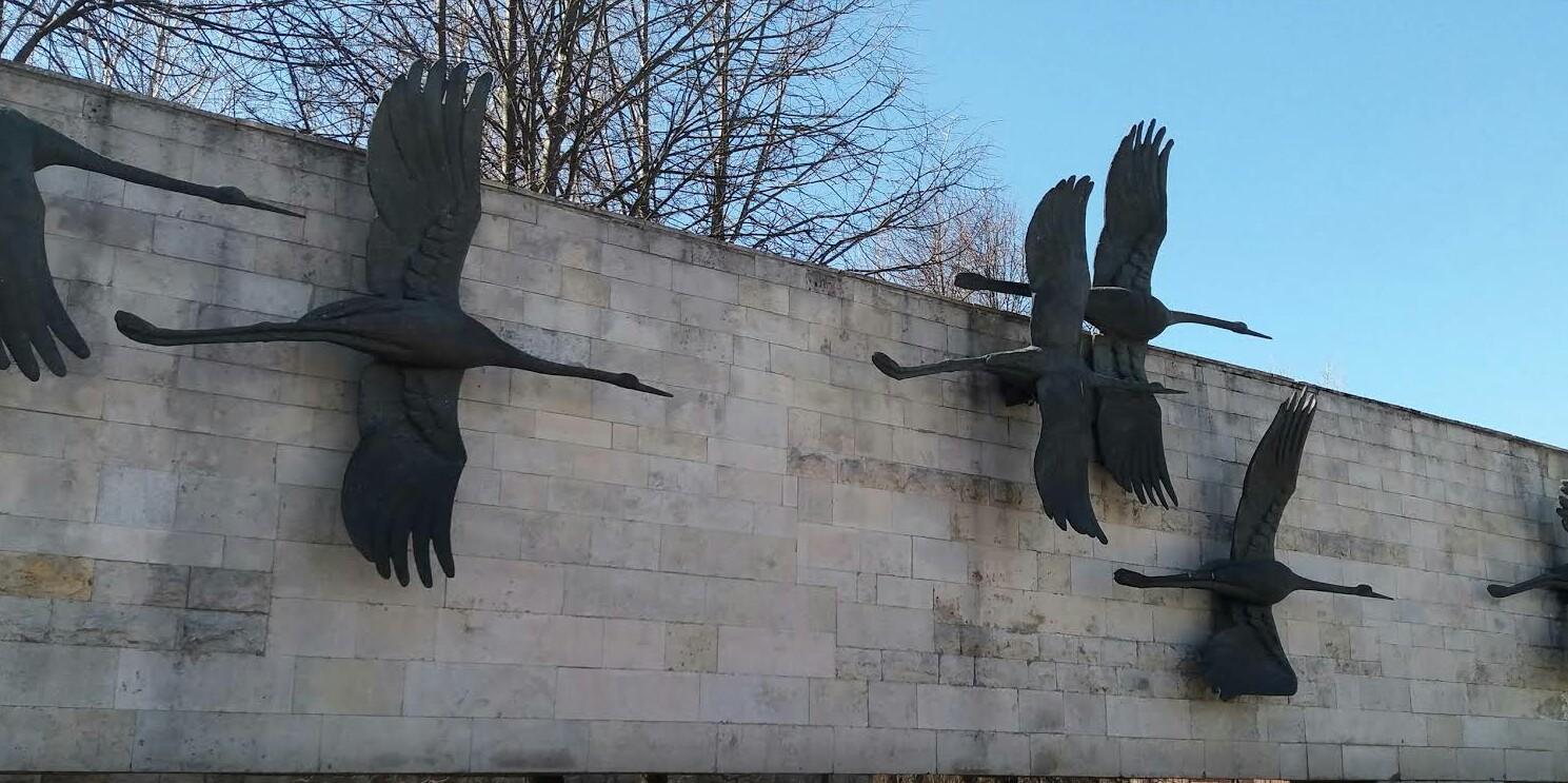 Невский мемориал Журавли в Петербурге