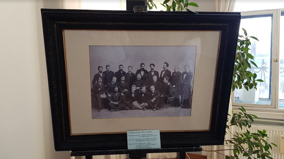 А. И. Куинджи и его ученики в 1897 году