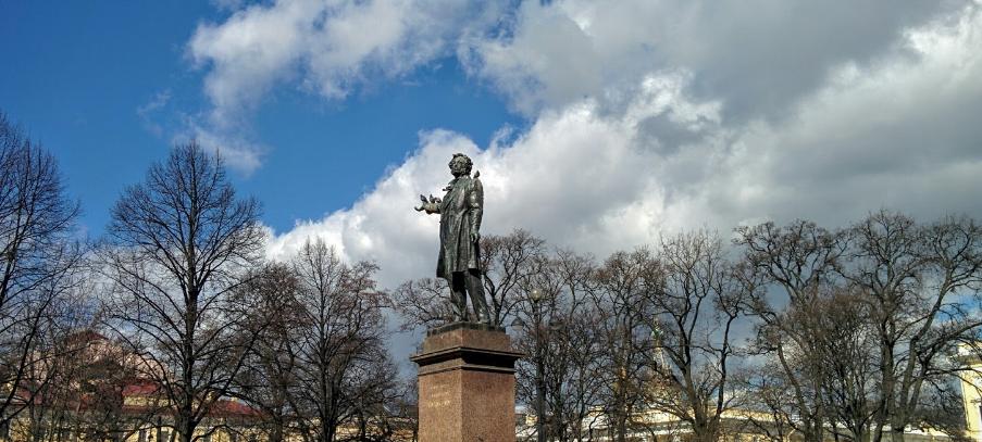 Михайловский сквер памятник Пушкину