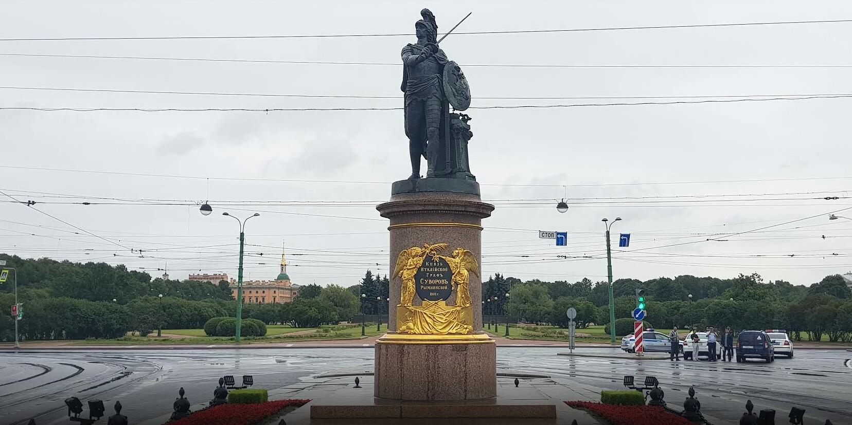 Памятник Суворову СПБ