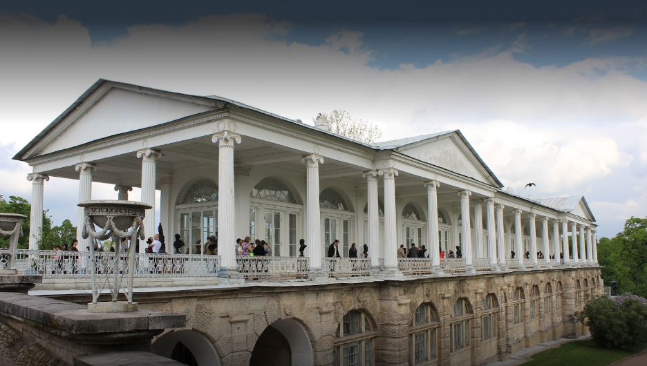 Камеронова галерея - памятник архитектуры в Екатерининском парке