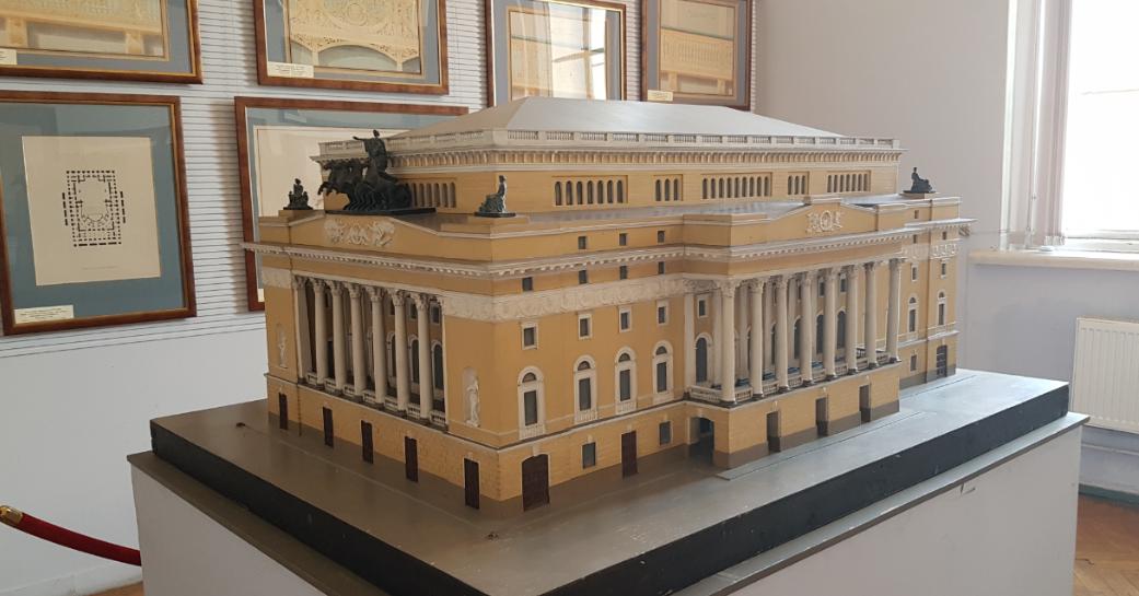 Проектная модель здания Александринского театра