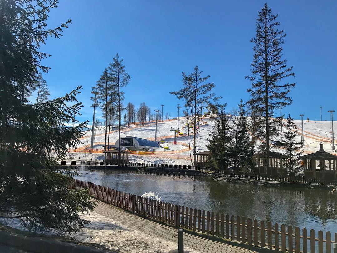 Озеро в Охта Парке