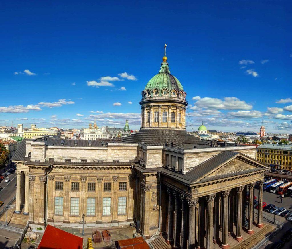 Казанский собор фото с экскурсии по крышам