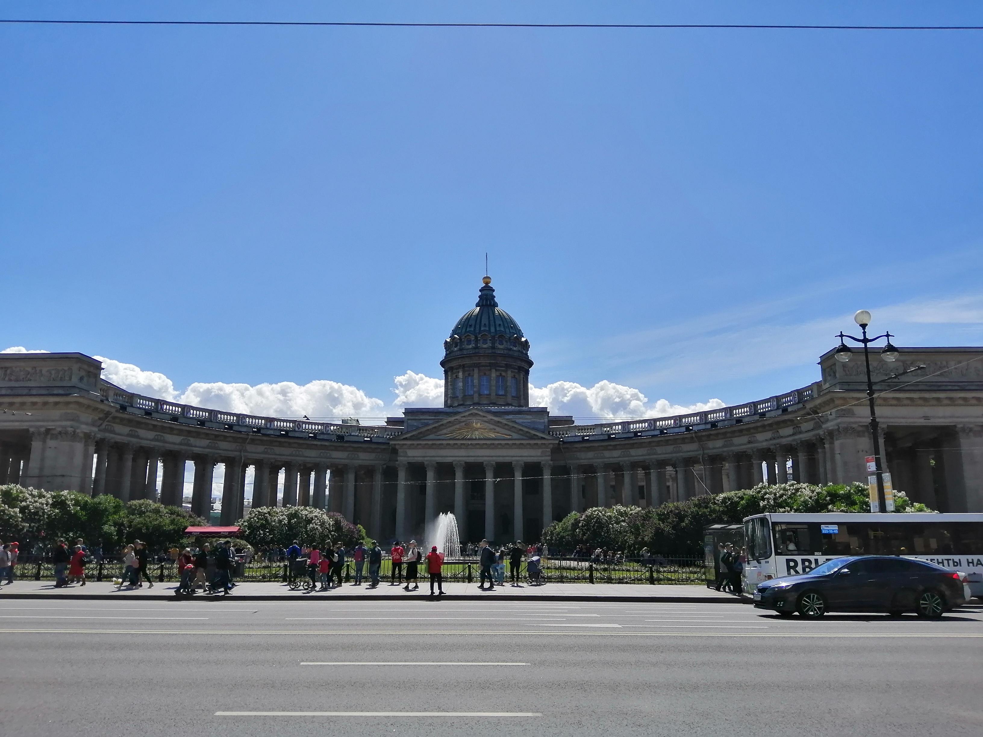 Казанский собор вид с невского
