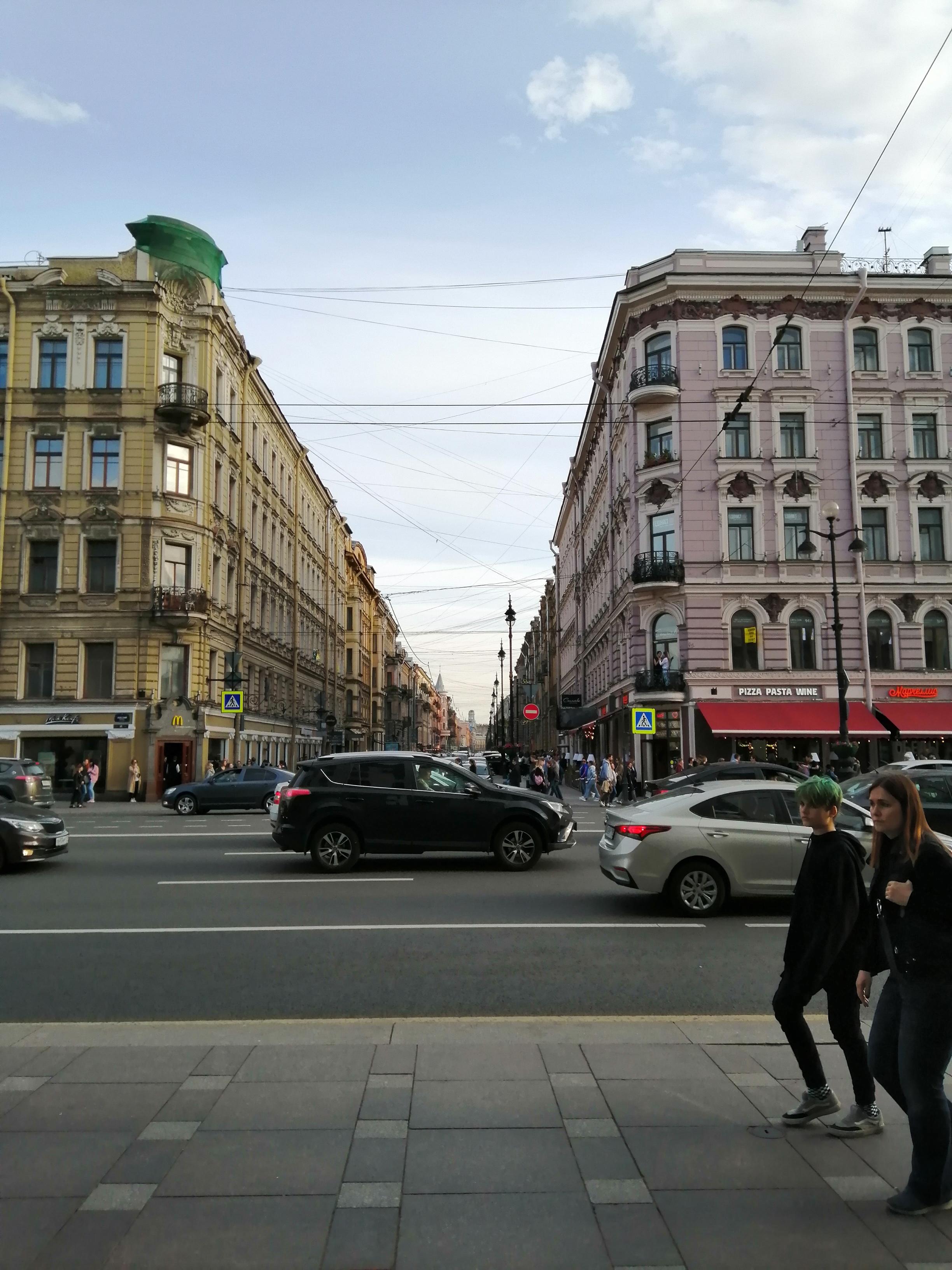 Невский проспект вид на Рубинштейна