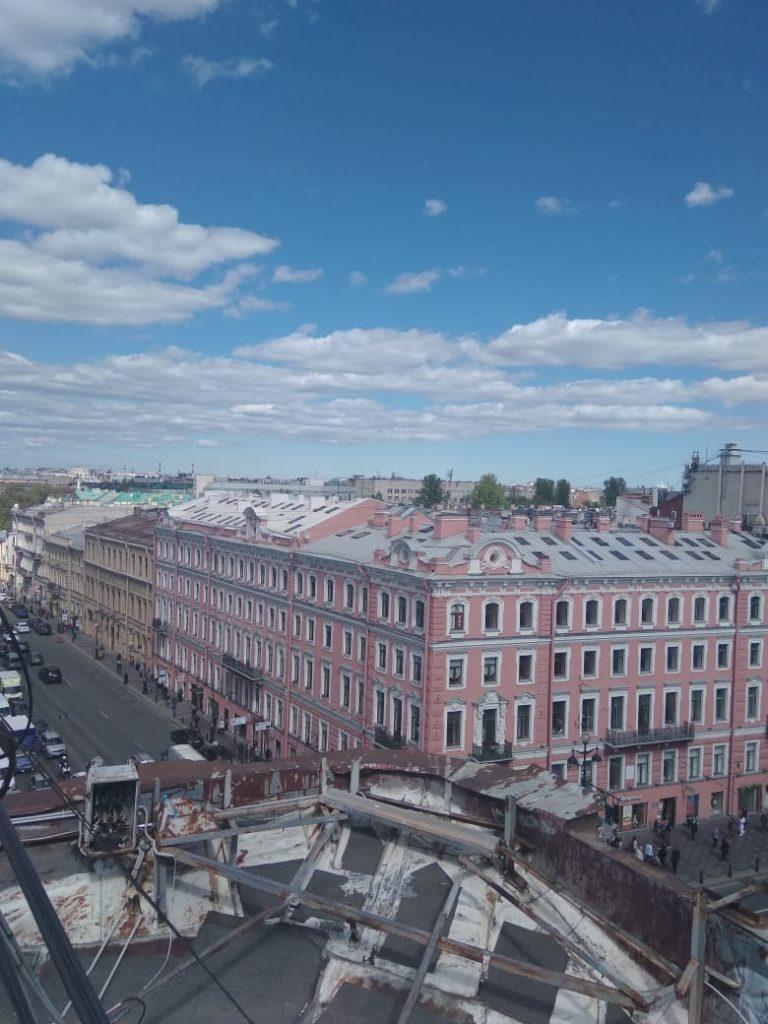 Вид на Невский и Литейный проспекты с крыш