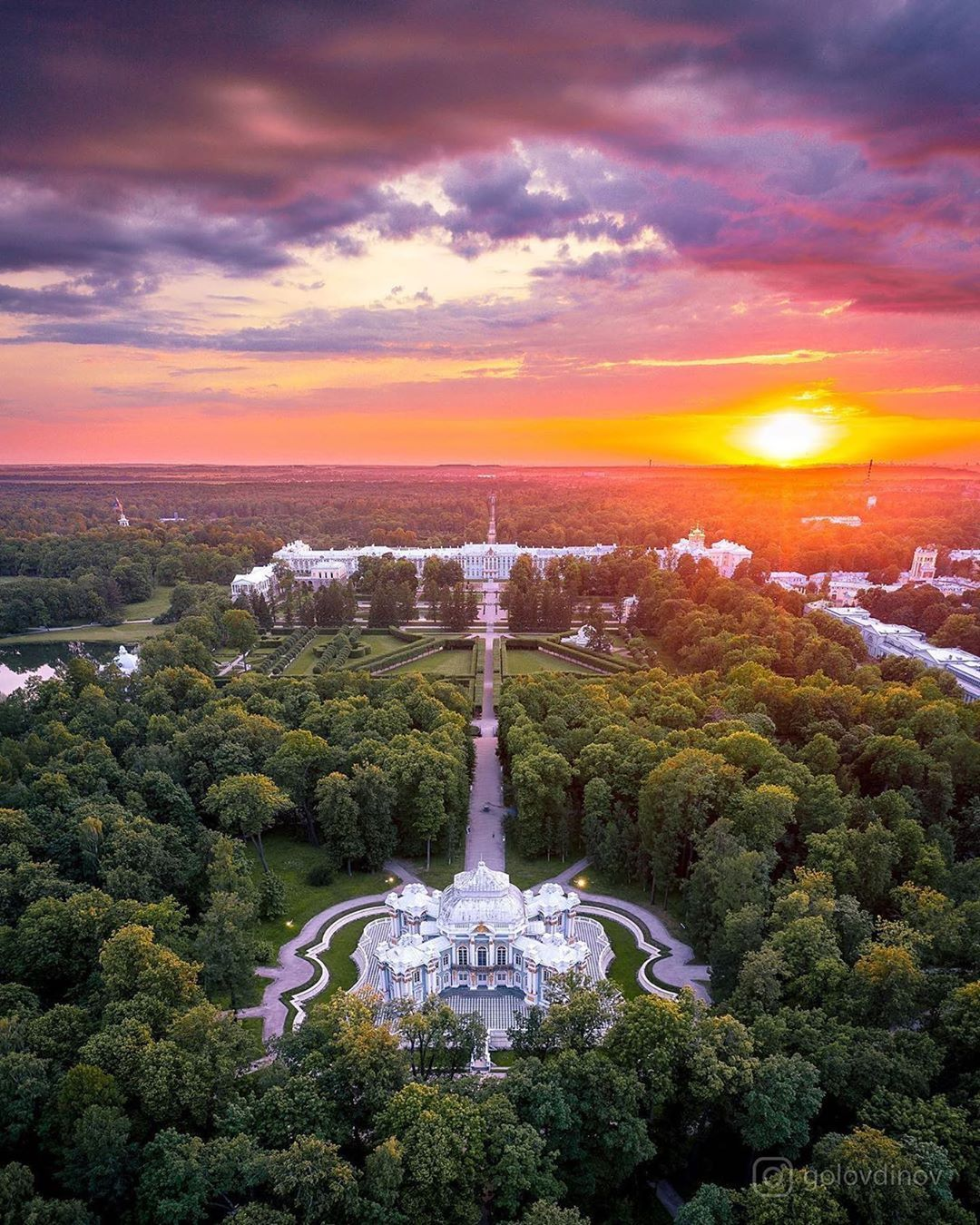 Екатерининский парк в Пушкине 📚